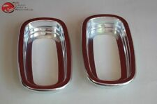 60-66 Chevy GMC Fleetside Pickup Truck Rear Tail Light Lamp Bezels Aluminum New