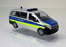 Busch 51164 Mercedes Benz V Klasse Autobahnpolizei Polizei Scale 1 87 NEU OVP