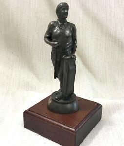 Vintage Golf Memorabilia Golf Trofeo Figura Statua Golfista a Cavallo Scultura