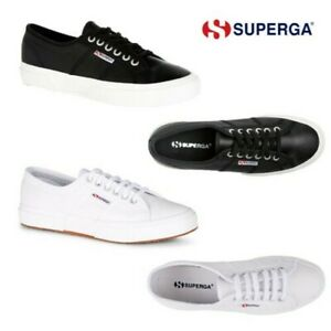 Superga Unisex Efglu Leather Lace Up Trainers Casual Low Top Pump Sneakers Shoes