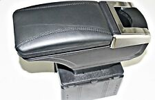 UNIVERSAL ARMREST CONSOLE FOR CAR VAN NEW BOX FITS  CARS BLACK ECO LEATHER MOST