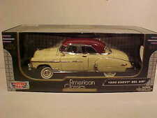 1950 Chevy Bel Air Coupe Die-cast Car 1:18 Motormax 10 inches Yellow