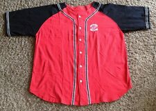 VINTAGE DETROIT RED WINGS  NHL BOTTOM DOWN JERSEY BY PRO EDGE  SIZE MEN'S LARGE