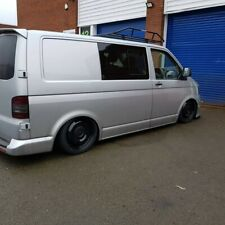 """VW TRANSPORTER T5 T6 18"""" SMOOTHIE  STEEL WHEELS AND TYRES GLOSS BLACK  5X120,"""