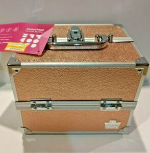 Caboodles Adored 4-Tray Train Case Cosmetics - Rose Gold Pink 1090