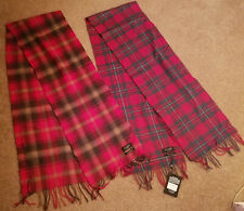 Set of 2 Kiltane 100% lambswool scarves scarf made in Scotland