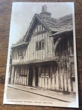 Thomas A Becket Cottages Worthing Sussex Old Postcard Real Photo Unposted