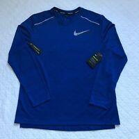 Nike Running Miler Tech Breathe Shirt Men's Blue Long/S SZ L BV5417-438 NWT