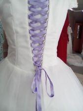 Lacet ruban MAUVE / 3 mètres - satiné pour robe de mariée/soirée