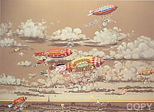 """Hiro Yamagata       """"Sky Cycles""""       Serigraph on Paper  BA"""