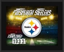 "Pittsburgh Steelers 10.5"" x 13"" Horizontal Team Logo Plaque - Fanatics"