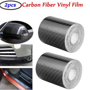 2X 3D Carbon Fiber Vinyl Wrap Film Sheet Decal Sticker Laptop Car Decor 50MM*3M