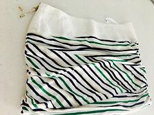 THREE OF SOMETHING DESIGNER STRIPED LINED MINI SKIRT SZ 8