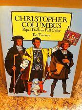 Paper Dolls Doll Book Tom Tierney Christopher Columbus Uncut Rare