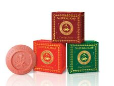 3 x 150 g Care Spa Natural Soap Madame Heng (Wood, Rose, Mint) Acne Rash Prevent
