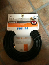 Philips RG6 Quad Shield Coax 50' - RV Satellite Dish