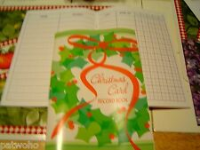 CHRISTMAS CARD RECORD ADDRESS BOOK NEW VHTF 5 YEAR WREATH FREE SHIPPING