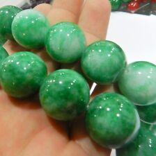 "HOO,20MM Green Emerald Round  Loose Bead 15"""