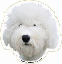 Old English Sheepdog Dog Head Car Magnet