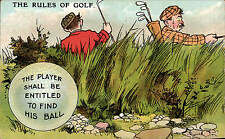 Golf Comic. The Rules of Golf. The Player Shall be Entitled...in National Series
