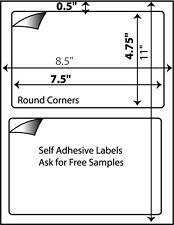 1200 W Self Adhesive Shipping Labels PayPal USPS UPS 7-3/8 x 4.5 Great For #000