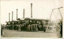 POSTCARD SIZED PHOTO OF ANDERTON & ROWLANDS FLEET OF ENGINES.