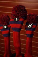 NEW 1 3 5 Majek BLUE RED POM POM golf clubs club Headcover Head covers cover Set