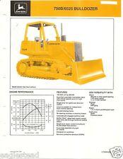Equipment Brochure - John Deere - 750B 6525 - Bulldozer - c1985 (E1884)