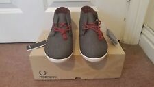 New Fred Perry Ladies Mid Trainers Moke Chambray B8067W Size 7