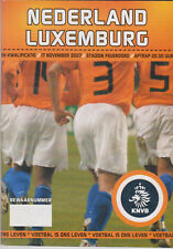 Programme / Programma Holland v Luxembourg 17-11-2007 EURO 2008 Qualifier