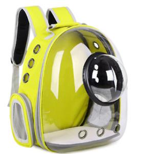Transparent Backpack Pet Carrier Portable Space Capsule Travel Dog Cat Bag