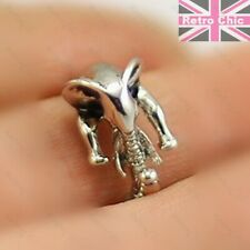 CUTE ELEPHANT RING silver/gold fashion KITSCH animals RETRO CHIC 17mm/UK N/US 7