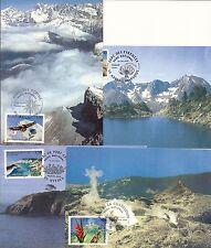 Les 4 CP 1er jour Les PARCS NATIONAUX 12/04/1997 à voir