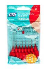 TePe Interdentalbürsten ROT Original  8 Stück Zahnzwischenraumbürste ISO2 0,5mm