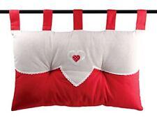 Lovely Casa Tête de lit coton Rouge 70x45 cm