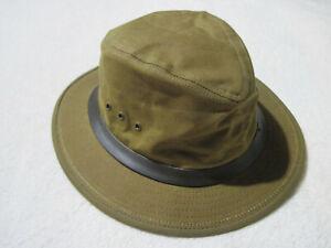 CC FILSON TIN CLOTH PACKER HAT 11060015 CRUSHABLE FEDORA DARK TAN MADE IN USA M