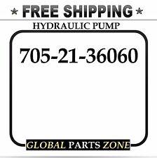 NEW HYDRAULIC PUMP for KOMATSU 705-21-36060 705-11-36010 D61E-12 SHIPS FREE!!!
