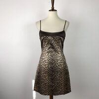 Cache Sz M Dress Animal Print Fit Flare Stretch Mini NWT