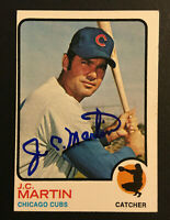 J.C. Martin Cubs signed 1973 Topps baseball card semi high 552 Auto Autograph 1