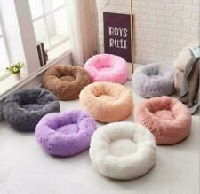 Large pet bed luxury shag warm fluffy dog bed nest cat mattress fur donut pad