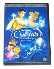 Walt Disney - Cinderella Platinum Edition 2 disc set Region 1 R1 DVD VGC