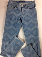 Rock & Republic Berlin Jeans Womens SZ 2 Dreamcatcher 29 x 30 Actual Aztec Light