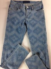 Rock & Republic Berlin Jeans Womens SZ 2 Dreamcatcher 29 x 30 Actual Aztec Light