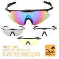 Outdoor Sports Cycling Bike Running Sunglasses Goggle Glasses Eyewear MTB UK New