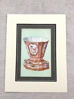 1910 Sèvres Porzellan Vase Rose Pompadour Rosa Antik Chromolithographie Aufdruck
