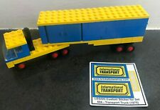 Lego 694 - Legoland - Transport Truck (1975) with repro-sticker