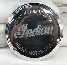 NOS GILROY INDIAN MOTORCYCLE 3 HOLE DERBY COVER CHIEF SCOUT SPIRIT PRIMARY CLUTC