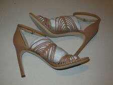 "Via Spiga  ""Dorian"" Ankle Strap Blush Leather (4.5 INCH) HEELS SZ 10 M (DISPLAY)"