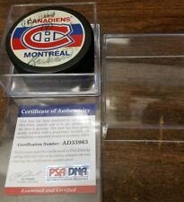 Montreal Canadiens Puck MAURICE RICHARD Auto PSA/DNA