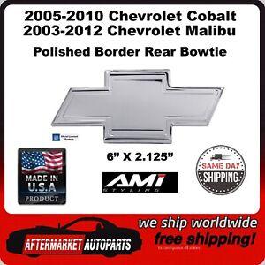 2003-2012 Chevrolet Malibu Polished Aluminum Bordered Bowtie Rear Emblem 96140P
